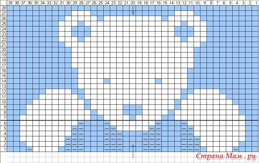Мишка схема Жаккард 004