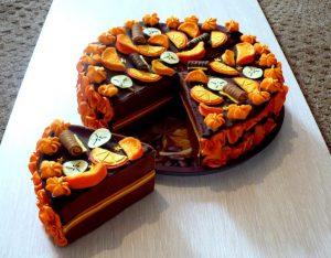Нежный апельсиново шоколадный торт и рецепт его приготовления