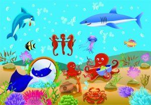 Обитатели подводного мира картинки для детей 003