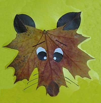 Орнамент из осенних листьев картинки и фото 001