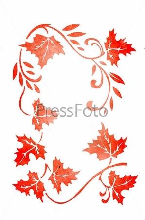 Орнамент из осенних листьев картинки и фото 002