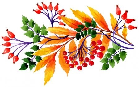 Орнамент из осенних листьев картинки и фото 004
