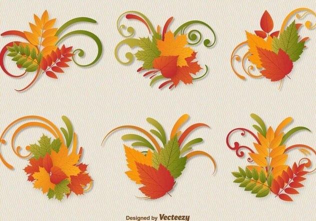 Орнамент из осенних листьев картинки и фото 012