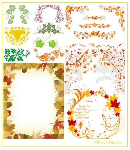 Орнамент из осенних листьев картинки и фото 014