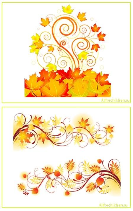 Орнамент из осенних листьев картинки и фото 018