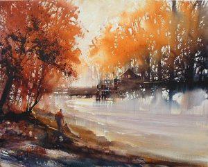 Осенняя акварель 014