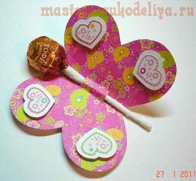 Открытка с конфетами ребенку