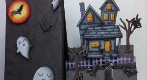 Открытки скрапбукинг на хэллоуин 006