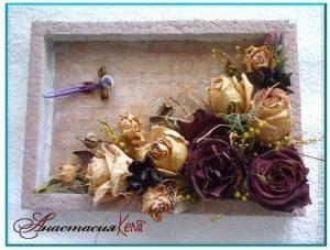 Панно из сухоцветов своими руками 015