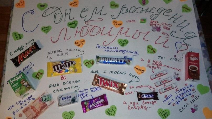 Открытки новым, открытки с конфетами для папы