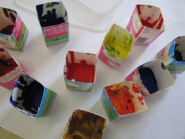Поделки из коробок молока подборка (1)