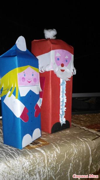 Поделки из коробок молока подборка (7)