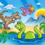 Прикольные динозавры рисунок для детей