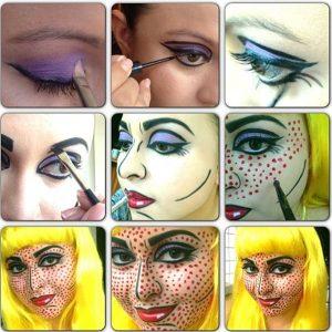 Прикольный макияж на лице 020