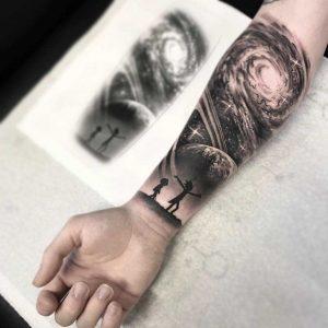 Рик и морти татуировки на теле 011