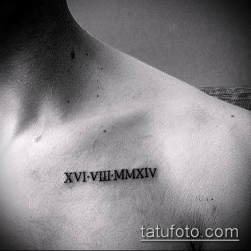 Римские цифры шрифты для тату 012