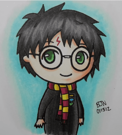 Рисунки Гарри Поттер для срисовки (25)