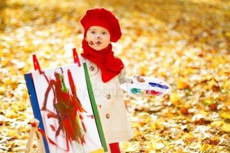 Рисунки девушка осень для детей 020