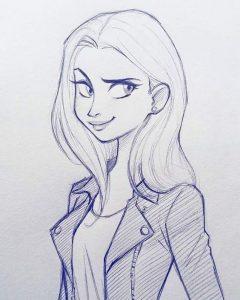 Рисунки карандашом в стиле арт 014