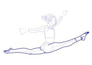 Рисунки карандашом гимнасток для детей 008