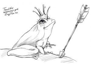 Рисунки карандашом к сказке царевна лягушка для 5 класса 015