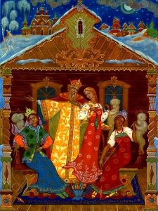 Рисунки к сказке о царе Салтане о сыне его славном и могучем богатыре 004