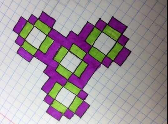 Рисунки по клеточкам в тетради легкие для мальчиков 10 лет 017