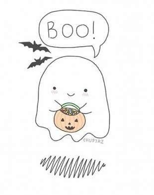 Рисунки хэллоуин картинки карандашом 001