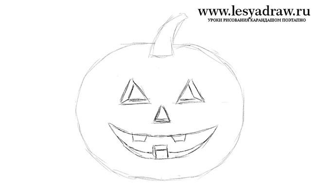Рисунки хэллоуин картинки карандашом 003