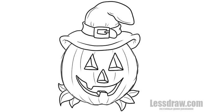 Рисунки хэллоуин картинки карандашом 004