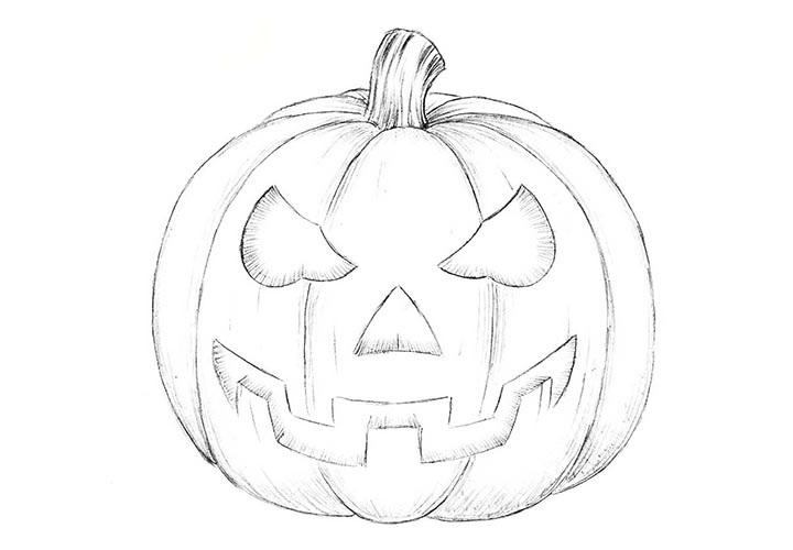 Рисунки хэллоуин картинки карандашом 006