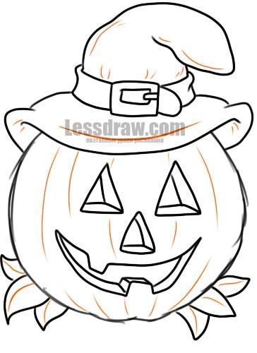 Рисунки хэллоуин картинки карандашом 008