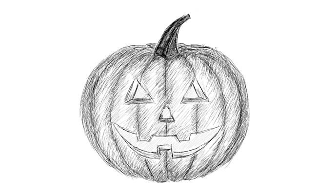 Рисунки хэллоуин картинки карандашом 010