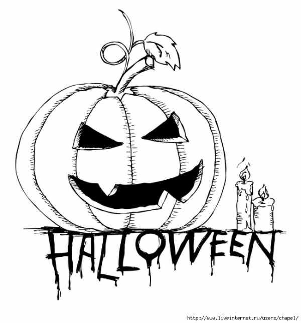 Рисунки хэллоуин картинки карандашом 014