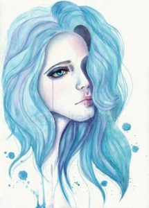 Рисунок девушка арт 004