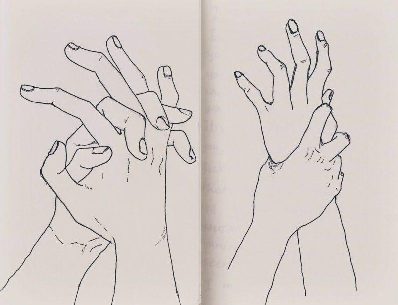Рисунок обнимашки для срисовки 018