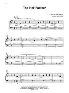Розовая пантера ноты для саксофона альта 009