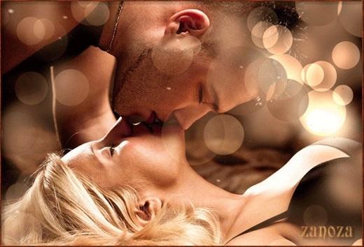 Романтические картинки про любовь с поцелуями 015