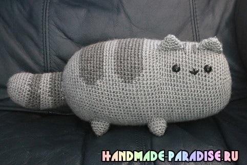 Своими руками вязаная кошка крючком 006