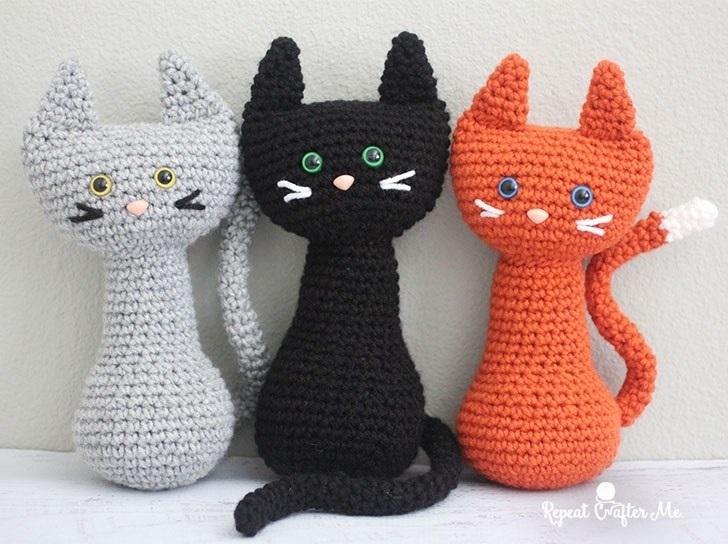 Своими руками вязаная кошка крючком 014
