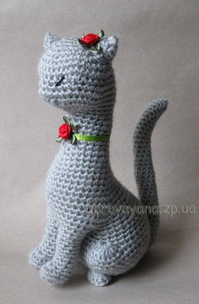 Своими руками вязаная кошка крючком 016