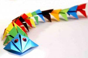 Собачка из модулей оригами – скачать схему 013