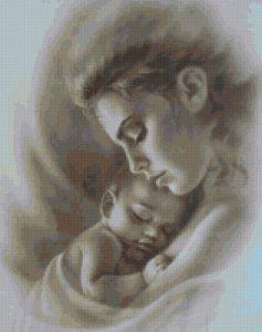 Схемы вышивка крестом мать и дитя 012