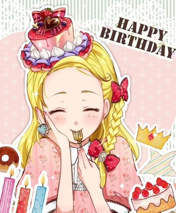 Милые аниме открытки с днем рождения
