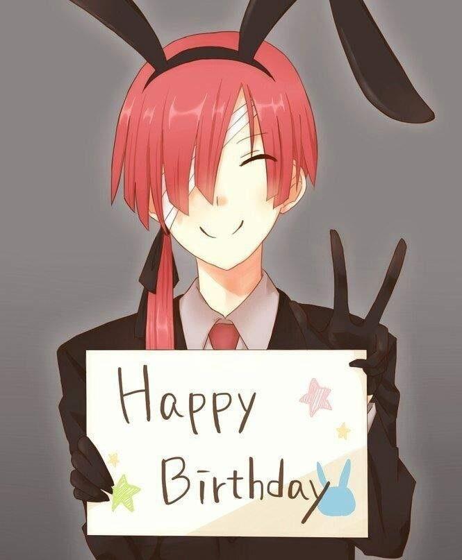 Открытки, аниме открытка на день рождения