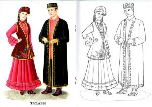 Татарский костюм рисунок 014