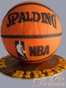 Торт в виде баскетбольного мяча 009