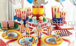 Торт в стиле цирка 013