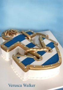 Торт с якорем фото 012