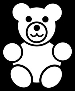 Трафарет медведя для вырезания 015